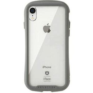 HAMEE [iPhone XR専用]iFace Reflection強化ガラスクリアケース 41-907214 グレー IPXRIFACEリフレクションGRY