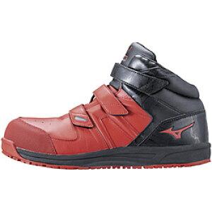 ミズノ 25.5cm 靴幅:3E メンズ 安全靴 MIZUNO WORKING オールマイティSF21M(レッド×ブラック)F1GA190262【JSAA・普通作業用(A種)認定品 耐滑 プロテクティブスニーカー】 [25.5cm] F1GA190262