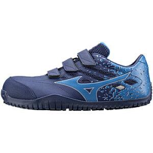 ミズノ 27.5cm 靴幅:3E メンズ 安全靴 MIZUNO WORKING オールマイティ TD22L(ネイビー×ブルー)F1GA190114【JSAA・普通作業用(A種)認定品 耐滑 プロテクティブスニーカー】 [27.5cm] F1GA190114