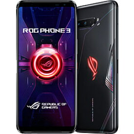 ASUS(エイスース) ASUS ROG Phone 3 ブラックグレア「ZS661KS-BK512R12」Snapdragon 865 Plus 6.59型・メモリ/ストレージ:12GB/512GB nanoSIM x2 DSDV対応 SIMフリースマートフォン ROG ブラックグレア ZS661KS-BK512R12 ZS661KSBK512R12