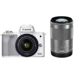 Canon(キヤノン) EOS Kiss M2 ミラーレス一眼カメラ EF-M15-45 IS STM/EF-M 55-200 IS STM ダブルズームキット ホワイト EOSKISSM2WHWZK [ズームレンズ+ズームレンズ] EOSKISSM2WHWZK
