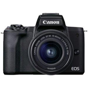Canon(キヤノン) EOS Kiss M2 ミラーレス一眼カメラ EF-M15-45 IS STM レンズキット ブラック EOSKISSM2BK1545ISLK [ズームレンズ] EOSKISSM2BK1545ISLK