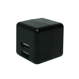 ミヨシ スマホ用USB充電コンセントアダプタ 2.4Aタイプ 自動出力制御機能付 ブラック IPA-US02/BK [2ポート] IPAUS02BK