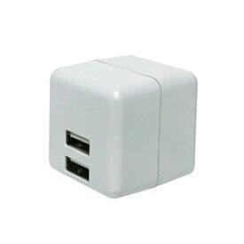 ミヨシ USB2ポート スマホ用USB充電コンセントアダプタ 2.4Aタイプ 自動出力制御機能付 IPAUS02WH