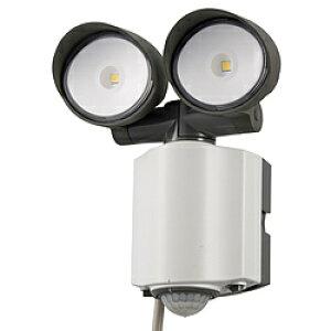 オーム電機 LEDセンサーライト AC電源 2灯 RL165Y2