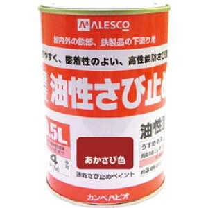 カンペハピオ ALESCO 速乾錆止めペイント 0.5L あかさび色 NO10805 NO10805
