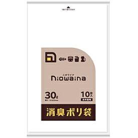 日本サニパック ニオワイナ消臭袋 LLDPE 白半透明 30L 10P 0.025mm