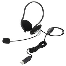 ELECOM(エレコム) HS-NB05USV ヘッドセット シルバー[USB /両耳 /ネックバンドタイプ] HSNB05USV
