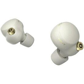 SONY(ソニー) フルワイヤレスイヤホン プラチナシルバー WF1000XM4 SM [リモコン・マイク対応 /ワイヤレス(左右分離) /Bluetooth /ハイレゾ対応 /ノイズキャンセリング対応] WF1000XM4SM