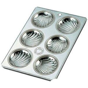 久保寺軽金属工業所 ブリキ マフィン型 貝型 6カップ <WMH01> WMH01