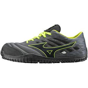 ミズノ 27.0cm 靴幅:3E メンズ 安全靴 MIZUNO WORKING オールマイティ TD11L(ブラックー×ダークグレー×イエロー)F1GA190009【JSAA・普通作業用(A種)認定品 耐滑 プロテクティブスニーカー】 [27.0cm] F1G