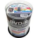 【ハイディスク HI DISC】ハイディスク HDDR47JNP100 データ用DVD-R 4.7GB 100枚 16倍速 磁気研究所