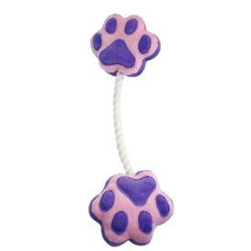 【ペットプロジャパン Pet Pro Japan】ペットプロジャパン 足型ひっぱりロープ パープル 犬おもちゃ