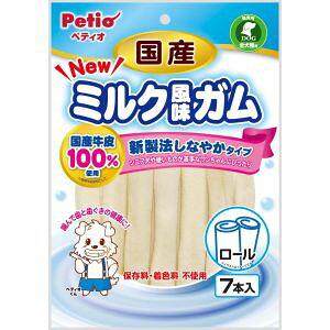 【ペティオ Petio】ペティオ NEW国産ミルク風味ガム ロール 7本