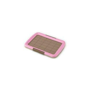 【ボンビアルコン】ボンビアルコン しつけるトレー メッシュプラス Sサイズ W480xD350xH40mm ピンク 犬 トイレ