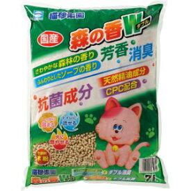 【アースペット EARTH】アースペット 猫砂楽園 森の香ダブル 7L トイレに流せる 燃やせる 猫砂