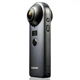 【エレコム ELECOM】360°カメラ/4K/スタンドアローンタイプ/オムニショット/ブラック OCAM-VRW01BK