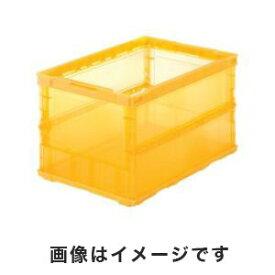 【トラスコ中山 TRUSCO】トラスコ TSK-O50B OR 薄型折りたたみコンテナスケル 50L オレンジ TRUSCO
