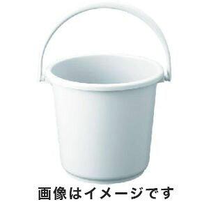 【トラスコ TRUSCO】トラスコ PPカラーバケツ 15L 白 TPPB-15-W