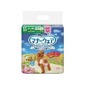 【ユニチャーム Unicharm】ユニチャーム マナーウェア 女の子用 SSサイズ 超小〜小型犬用 ピンクリボン 青リボン 38枚 犬 おむつ