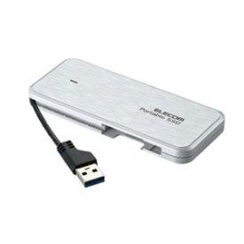 【エレコム ELECOM】エレコム ELECOM ケーブル収納型外付けポータブルSSD 960GB ホワイト ESD-EC0960GWH