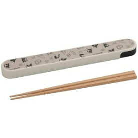 【ナカノ nakano】ナカノ nakano 箸箱セット 19.5cm ハッピーキャット 白 MM-533
