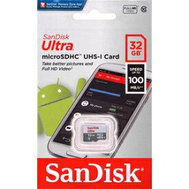 【サンディスク SanDisk 海外パッケージ】サンディスク マイクロSDHC 32GB SDSQUNR-032G-GN3MN Class10 R=100MB/s microsdカード