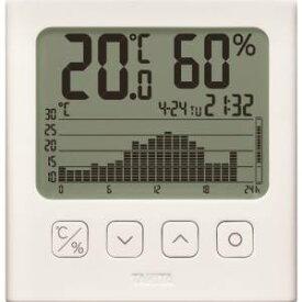【タニタ TANITA】タニタ TT-581 グラフ付きデジタル温湿度計 ホワイト TANITA