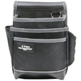 【E-Value】腰袋 3段 ブラック&グレー EDK-2D GR