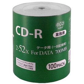 【ハイディスク HI DISC】ハイディスク CR80GP100_BULK CD-R CDR 700MB データ用 100枚 磁気研究所