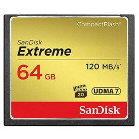 【サンディスク SanDisk 海外パッケージ】サンディスク CFカード 64GB SDCFXSB-064G-G46 コンパクトフラッシュ