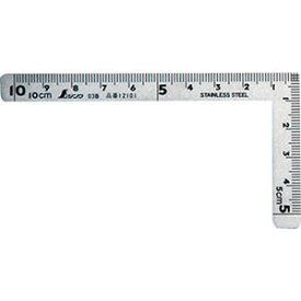【シンワ測定 SHINWA】シンワ測定 12101 曲尺小型 三寸法師ステン 10×5cm 表裏同目