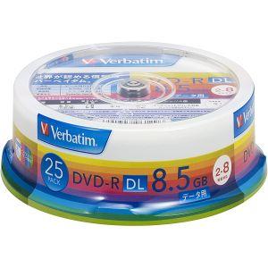 【三菱 Verbatim】DHR85HP25V1 DVD-R DVDR DL データ用 8倍速25枚