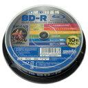 【ハイディスク HI DISC】HDBDR130RP10 BD-R BDR 25GB 6倍速10枚
