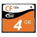 【チーム Team】チーム TG004G2NCFF コンパクトフラッシュ 4GB 133倍速 20MB/s CFカード Team