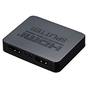 【グリーンハウス GreenHouse】HDMIスプリッター 分配器 USB給電タイプ GH-HSPA2-BK(ブラック) Input1+Output2ポート