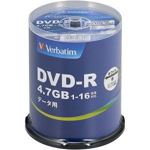 【三菱 Verbatim】DHR47JP100V4 DVD-R DVDR データ用 16倍速100枚