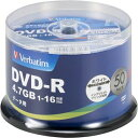 【Verbatim】DHR47JP50V4 (DVD-R 16倍速50枚)