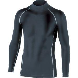 【おたふく手袋 OTAFUKU】BTパワーストレッチハイネックシャツ ブラック Lサイズ JW-170