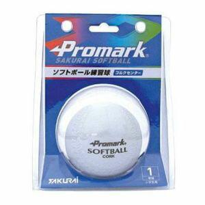 【プロマーク Promark】ソフトボール練習球1号 WH SB-801N