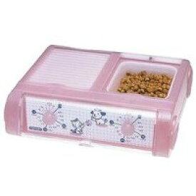 【山佐時計計器 ヤマサ YAMASA】わんにゃんぐるめ クリアピンク ペット自動給餌 CD-400-CP