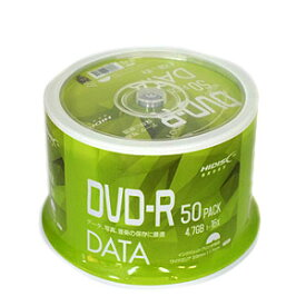 【ハイディスク HI DISC】ハイディスク VVDDR47JP50 データ用DVD-R 4.7GB 50枚 16倍速磁気研究所