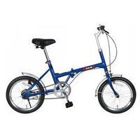 【ZERO-ONE ゼロワン】72946 16インチ折りたたみ自転車 FDB16 ブルー 【メーカー直送 代引き不可】