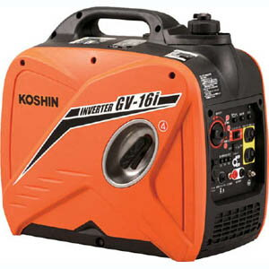【工進 KOSHIN】インバーター発電機 1.6kVA 12V 8A GV-16i GV-16I【メーカー直送・代引不可】
