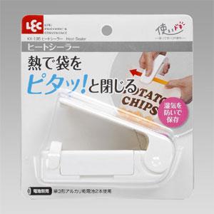 【レック】ハンディシーラー ヒートシーラー ホワイト (フードシーラー 袋とじ)
