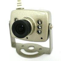 【赤外線】赤外線LED付 カラー防犯カメラセット(10M延長ケーブル付き)