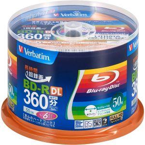 送料無料!!【三菱 Verbatim】VBR260RP50SV1 BD-R BDR DL 50GB 6倍速50枚【smtb-u】