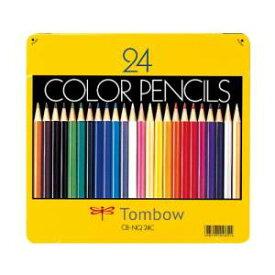 【トンボ鉛筆】色鉛筆 24色 缶入 NQ CB-NQ24C