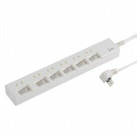 【オーム電機 OHM】雷に強い 節電タップ 6個口 1.5m HS-T1394W 00-1394