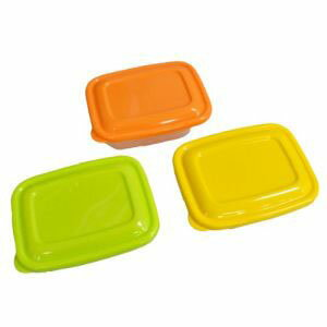 【タケヤ化学工業】プラスチック 保存容器 カラフルライトパック 320ml 3個組
